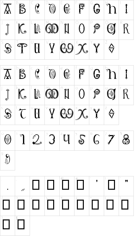 Anglo-Saxon Schriftart Font Download Kostenlos