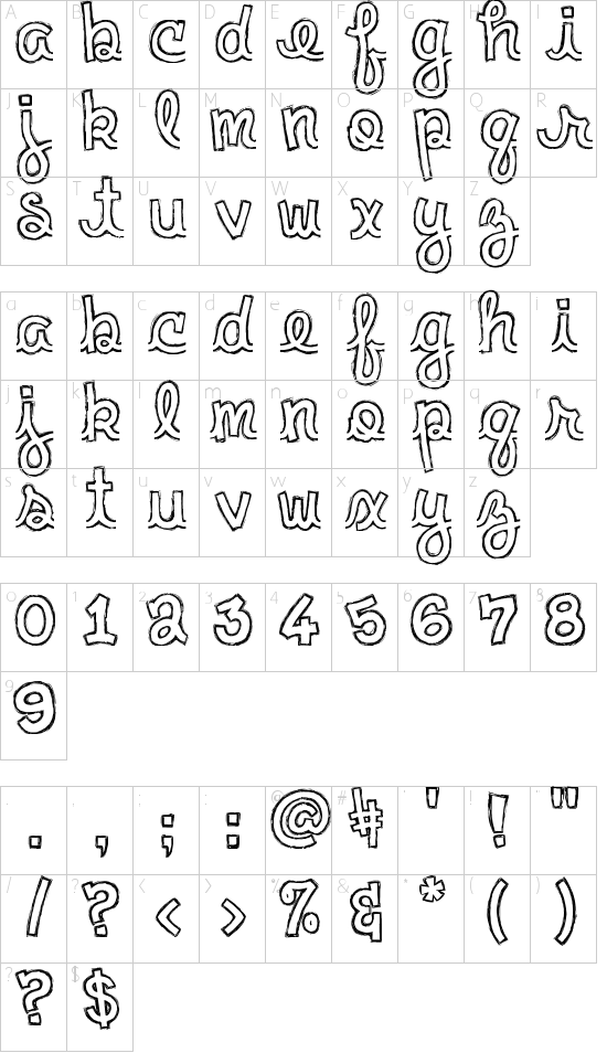 Clementine Sketch Schriftart Font Download Kostenlos