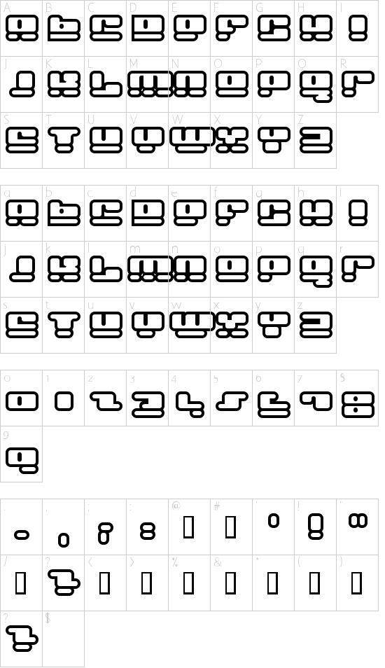 Face plant hollow 2 Schriftart Font Download Kostenlos