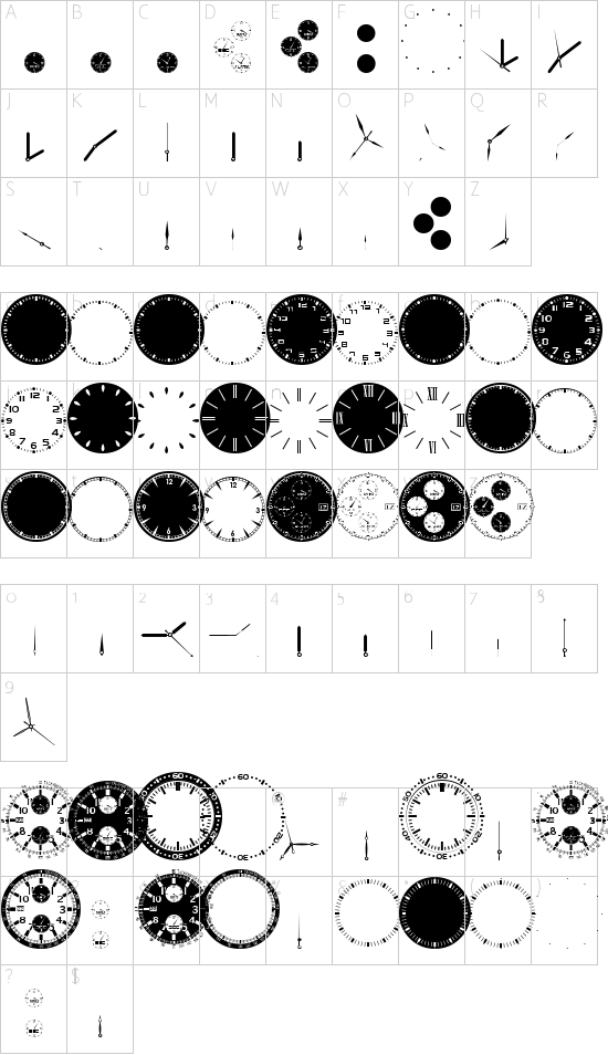 GA Clock Dial Round Schriftart Font Download Kostenlos