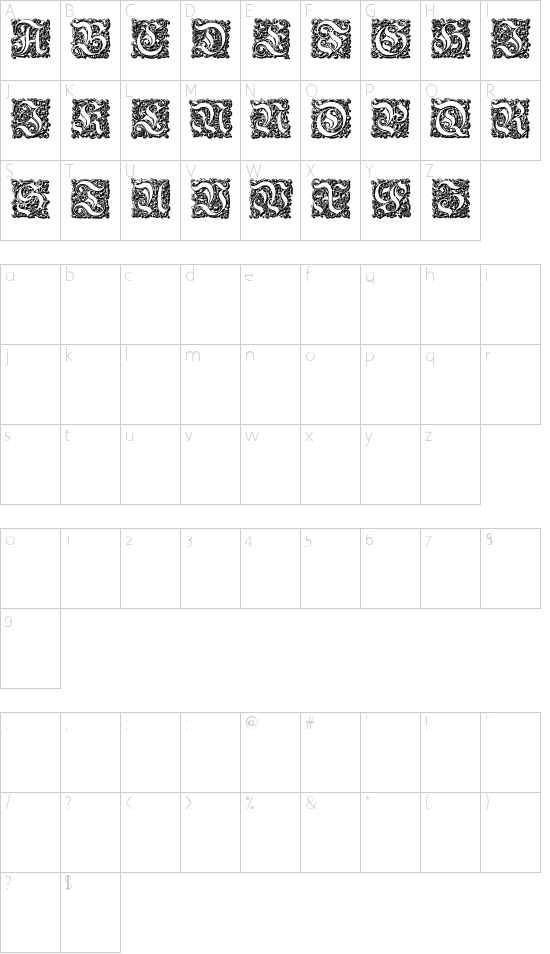 Parigee Initials Simple Schriftart Font Download Kostenlos