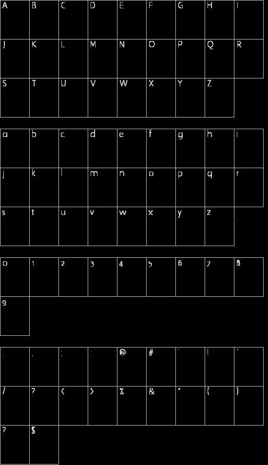 RoadSign Schriftart Font Download Kostenlos